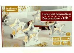 "Christmas LED figures ""Star buck"" on the table, 4-piece, uni"